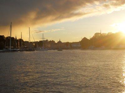Sonnenstimmung im Hafen