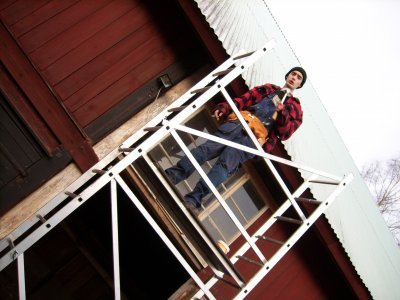Fenstereinbau im Stall